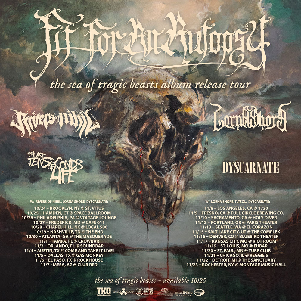 Rivers of Nihil to join Fit For An Autopsy, Lorna Shore, Dyscarnate for USA tour thisfall