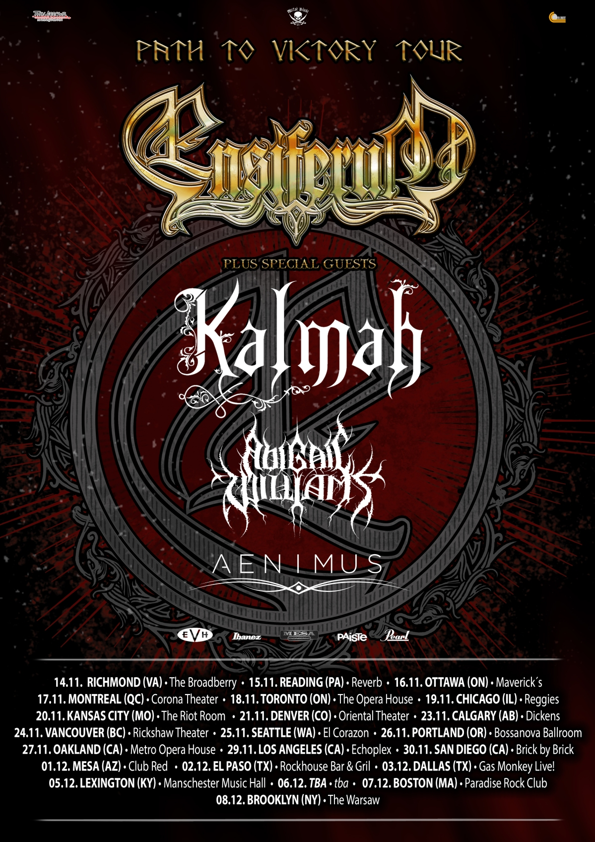 AENIMUS Announce Path To Victory Tour With Headliners ENSIFERUM!