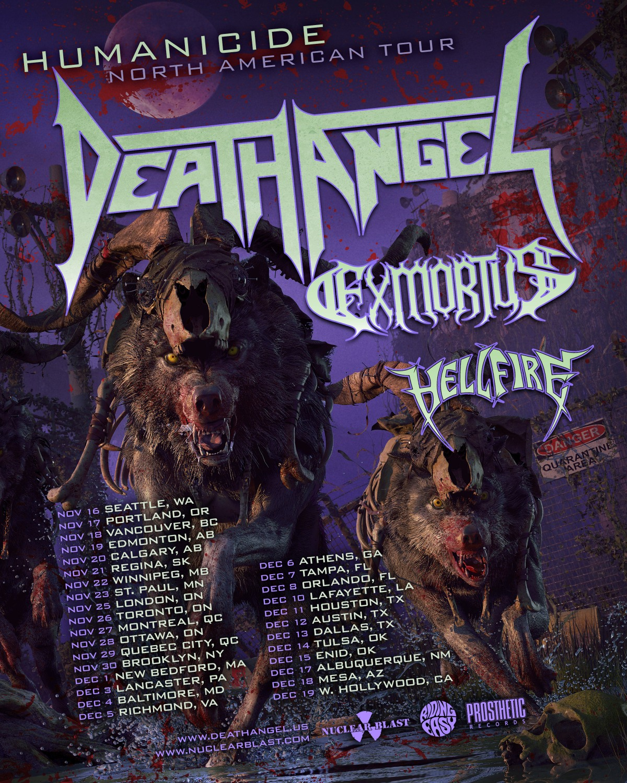 Death Angel Announces North American HeadlineTour