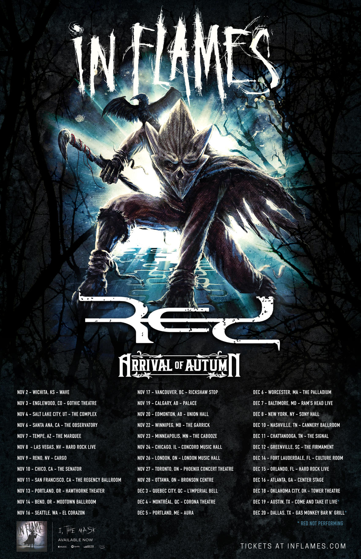 ARRIVAL OF AUTUMN Announces North American Tour with IN FLAMES And RED