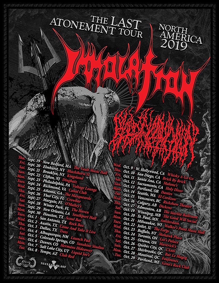 Blood Incantation Kick off North American tour with Immolation