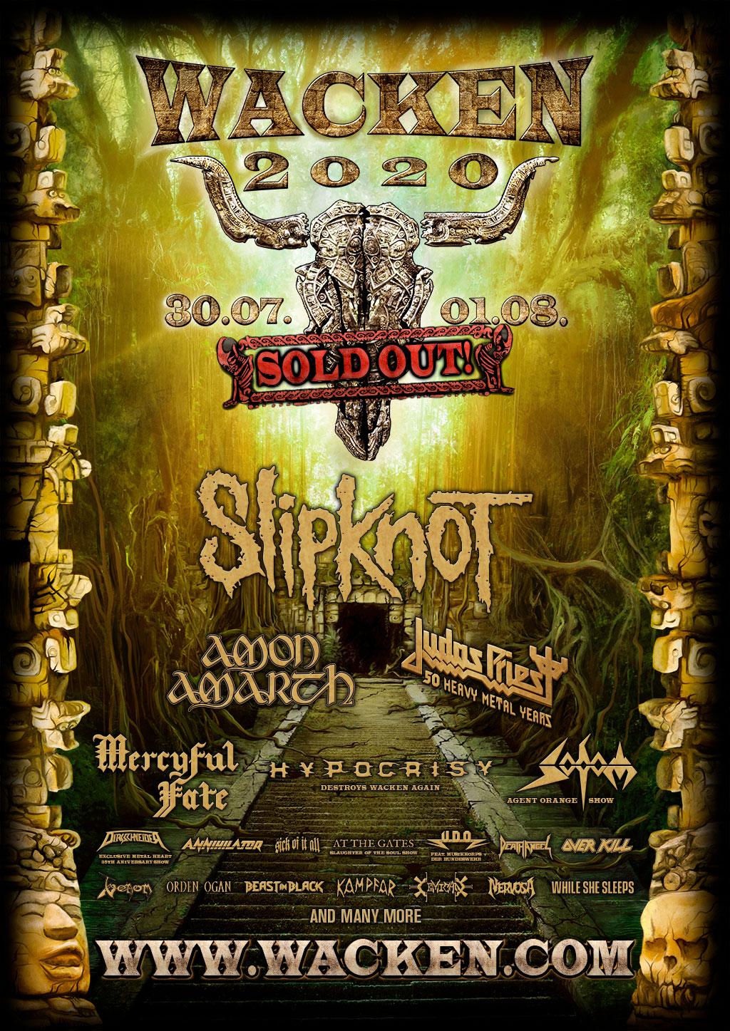 WACKEN OPEN AIR confirms SLIPKNOT as next year's headliner