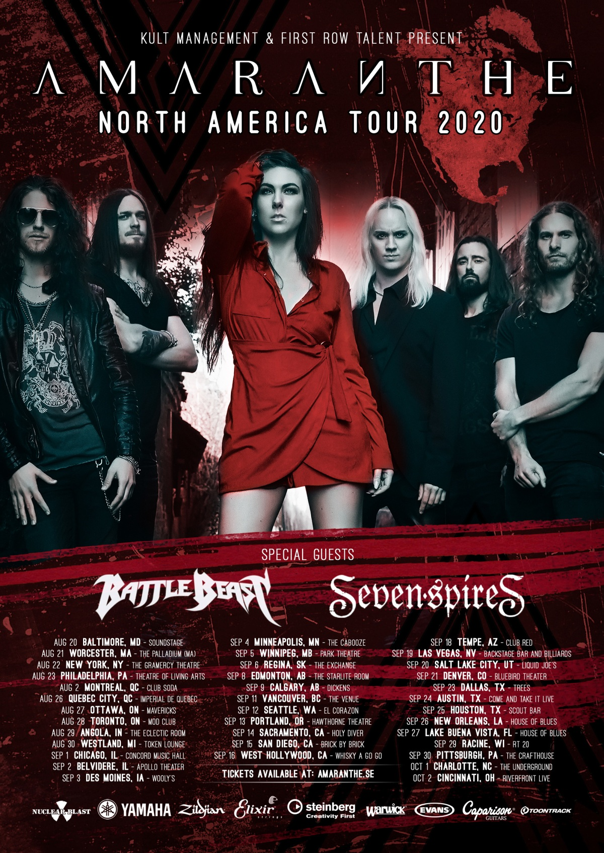 Amaranthe To Headline North American Tour
