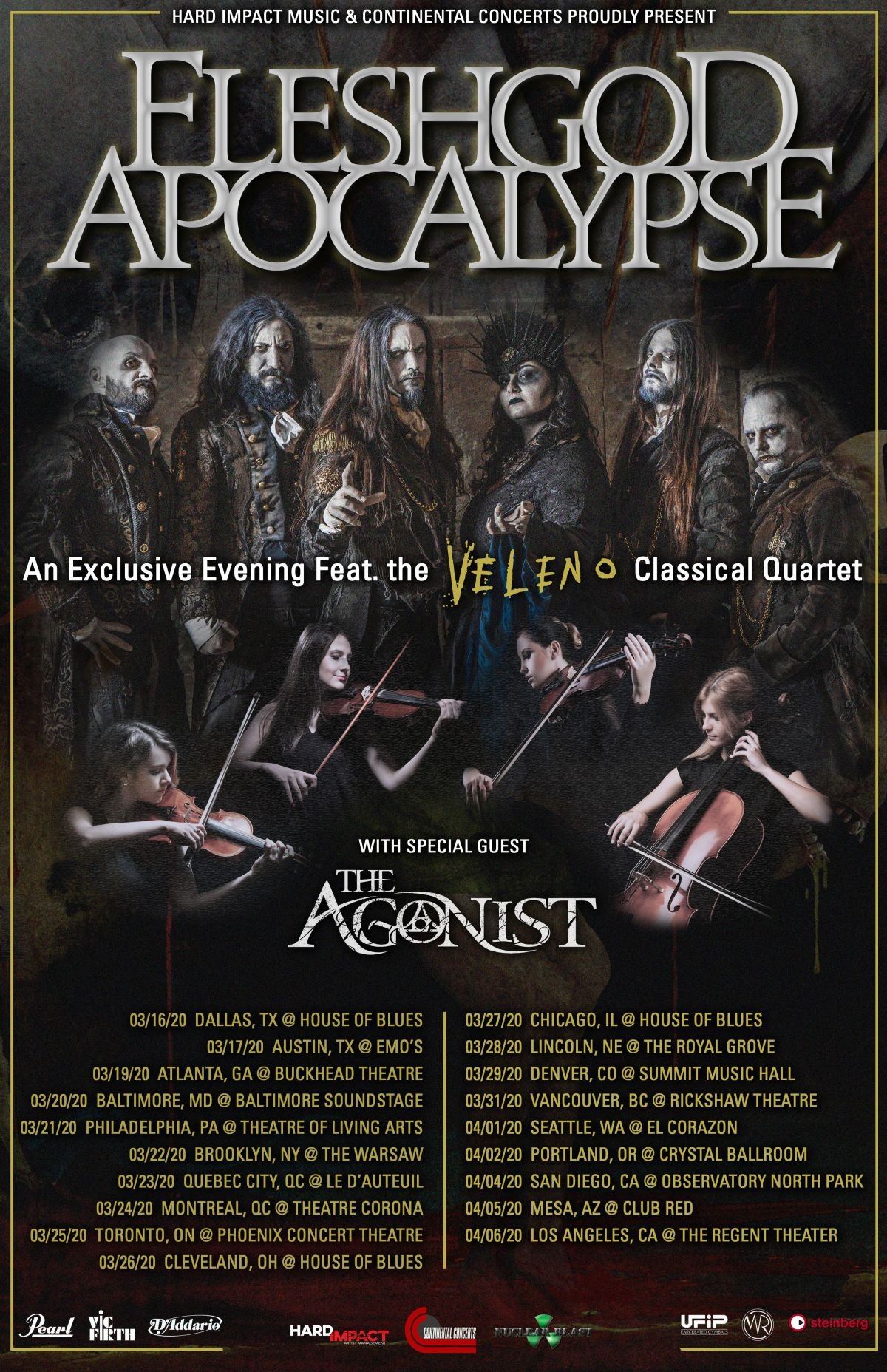 The Agonist to Tour North America in March 2020